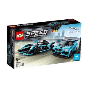 LEGO Speed Champions Formula E Panasonic Jaguar Racing GEN2 car & Jaguar I-PACE eTROPHY - 76898