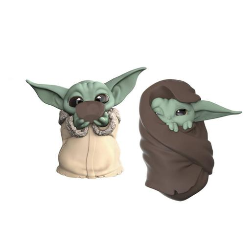 Star Wars - Baby Yoda The Child - Pack Figuras 6,3 cm Sopa e Mantinha