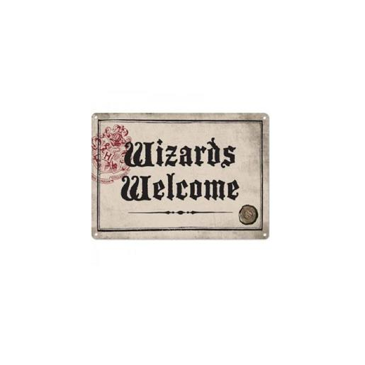 Harry Potter - Chapa Metálica Wizars Welcome