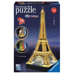Ravensburger - Puzzle 3D Torre Eiffel Night Edition