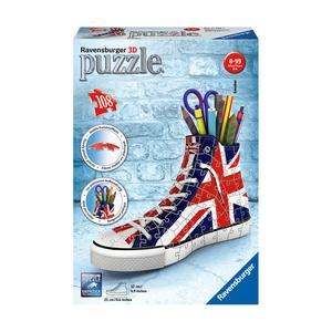Ravensburger - Sneaker Bandeira do Reino Unido - Puzzle 3D 108 Peças
