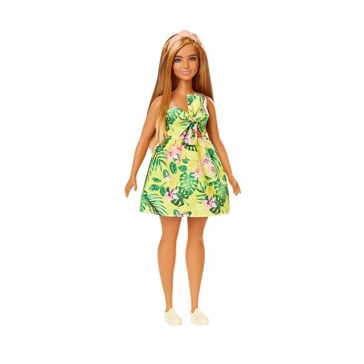Barbie - Boneca Fashionista - Vestido com Estampado Tropical