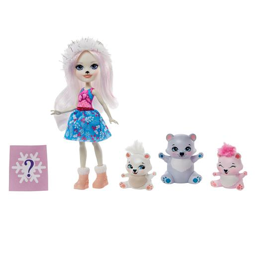 Enchantimals - Boneca Pristina Polar Bear com Mascotes