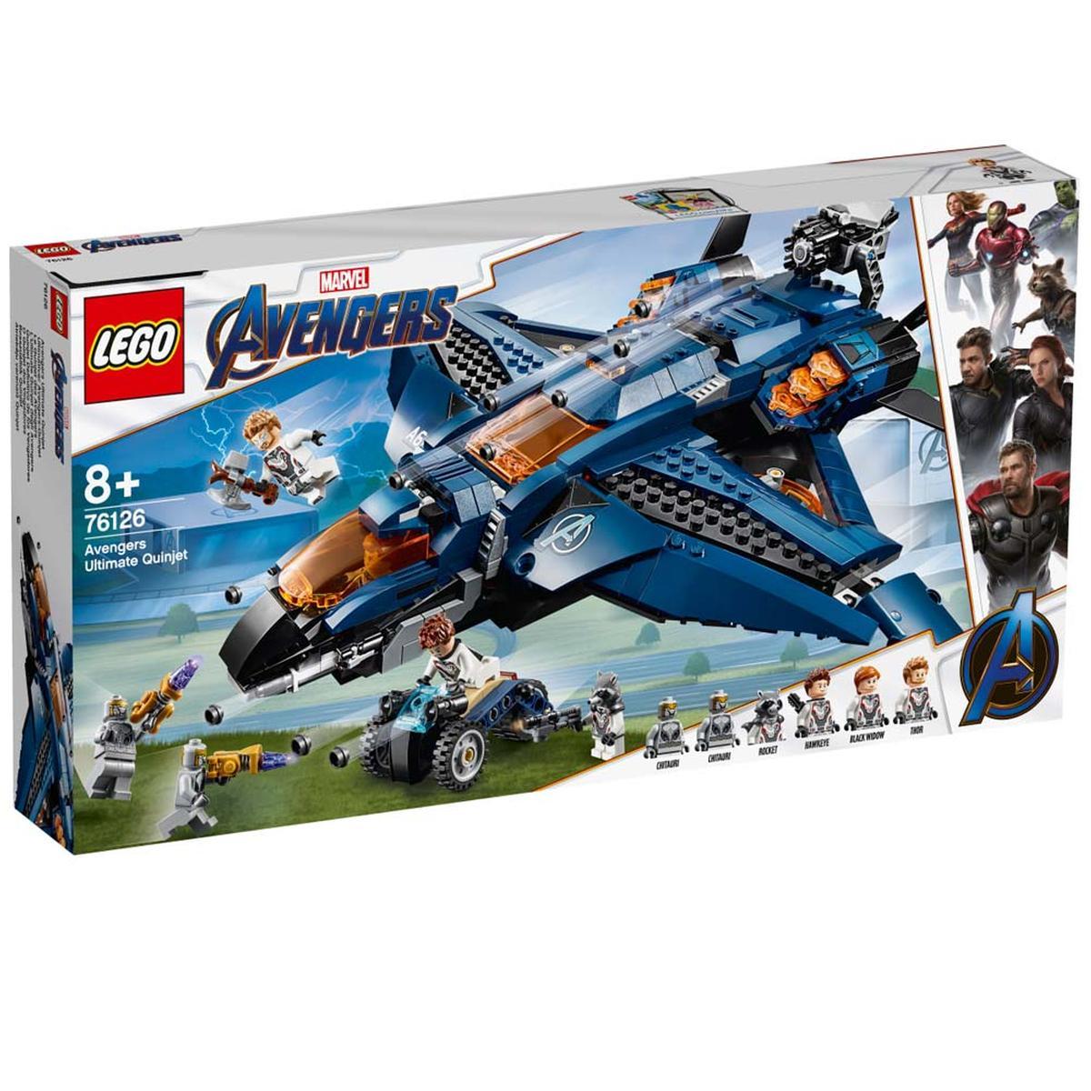 Lego Súper Heróis O Quinjet Dos Vingadores 76126 Lego Marvel Super Heroes Loja De Brinquedos E Videojogos Online Toysrus