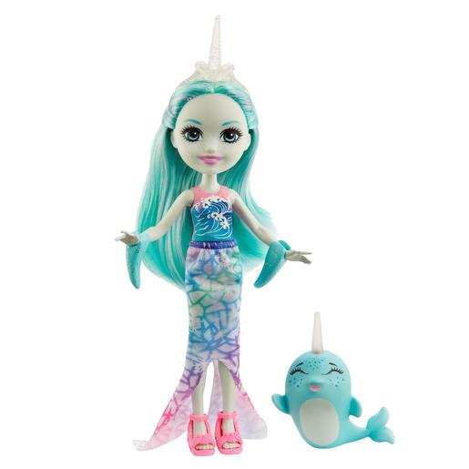 Enchantimals - Boneca Naddie Narwhal com Mascote