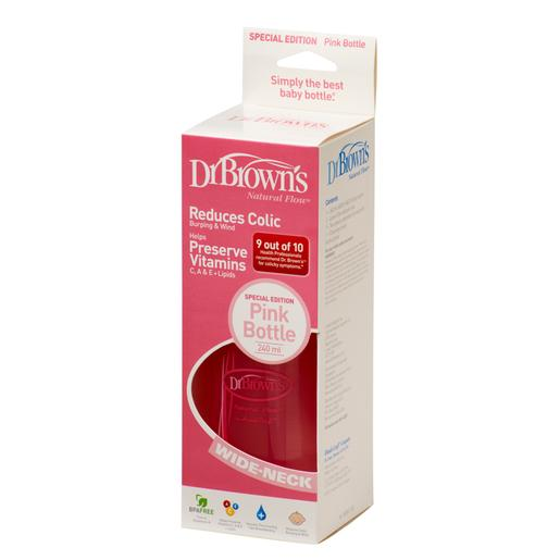 Dr. Brown´s - Biberón Options Dr. Brown's Biberão Ancha Rosa 270ml