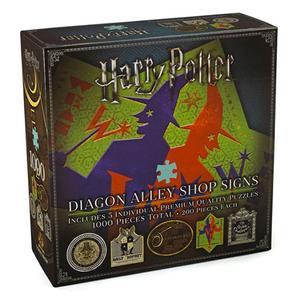 The Noble Collection Harry Potter Puzzle Diagon Alley Shop Signs 1000 Peças