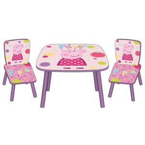 Porquinha Peppa - Set Mesa + 2 Cadeiras Rosa e Lilás