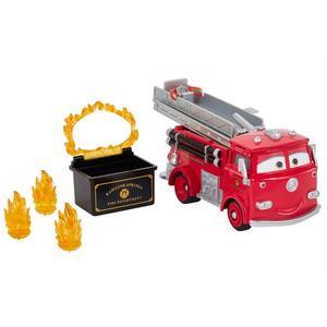 Cars - Camião de Bombeiros Vermelho Acrobacias com Água