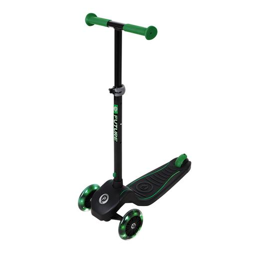 Trotinete Future Scooter luzes LED Verde