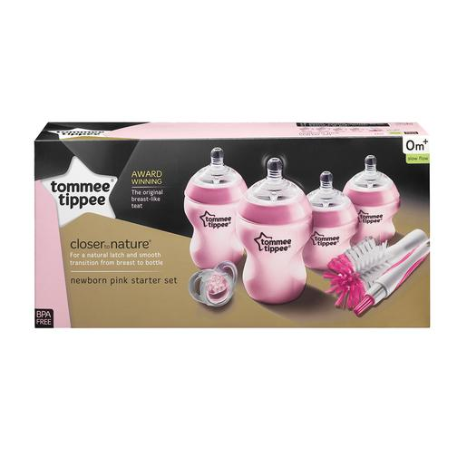 Tommee Tippee - Kit de Iniciação de Biberões Closer to Nature Rosa