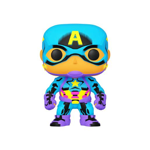 Marvel - Capitão América - Figura Funko POP Black Light