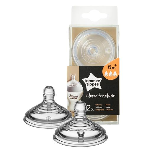 Tommee Tippee - Pack 2 Tetinas de Fluxo Rápido Closer to Nature +6 meses