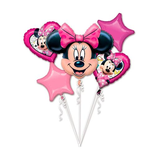 Minnie Mouse - Pack 5 Balões Bouquet