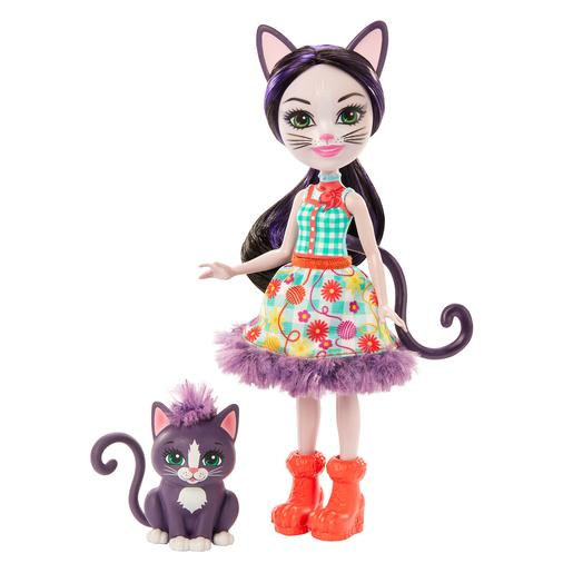 Enchantimals - Ciesta Cat e Climber - Boneca e Mascote