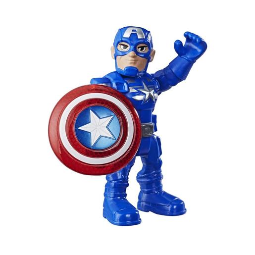 Marvel - Figura Capitán América Super Hero Adventures