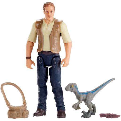 Jurassic World - Owen and Baby Blue - Figura Básica
