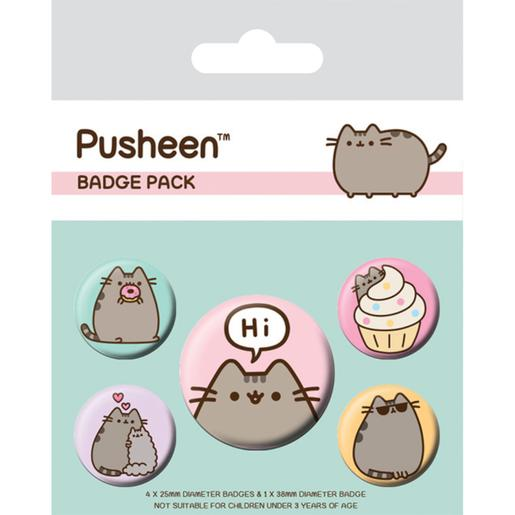 Pusheen - Pack Chapas Pusheen Says Hi