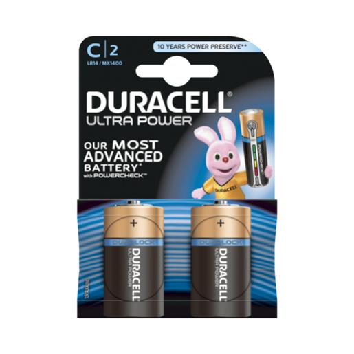 Duracell - Pack 2 Pilhas C Ultra Power