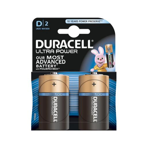 Duracell - Pack 2 Pilhas D Ultra Power