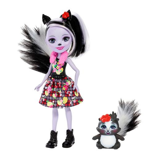 Enchantimals - Boneca com Mascote - Sage Skunk e Caper