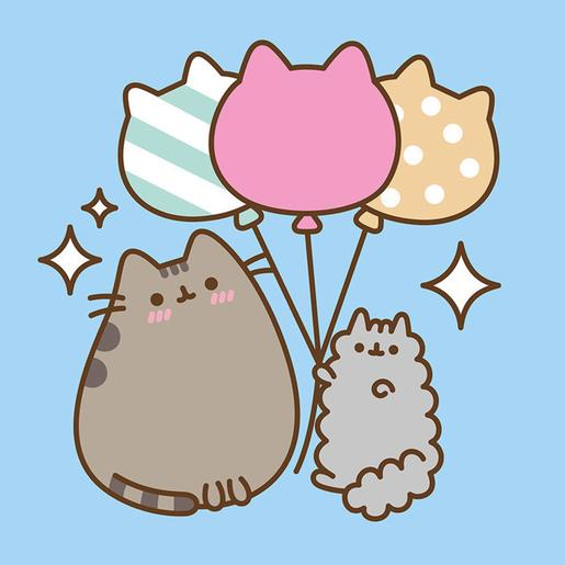 Pusheen - Canvas 30 x 30 cm Ballons
