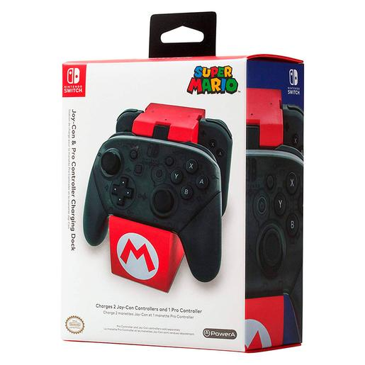 Nintendo Switch - Pro Controller Charger Plus Super Mario