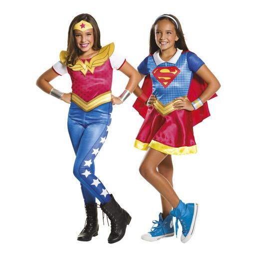 DC Super Hero Girls - Disfarce Infantil Supergirls e Wonder Woman 3-4 anos
