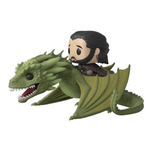 Game of Thrones - Jon Snow com Rhaegal - Figura Funko POP