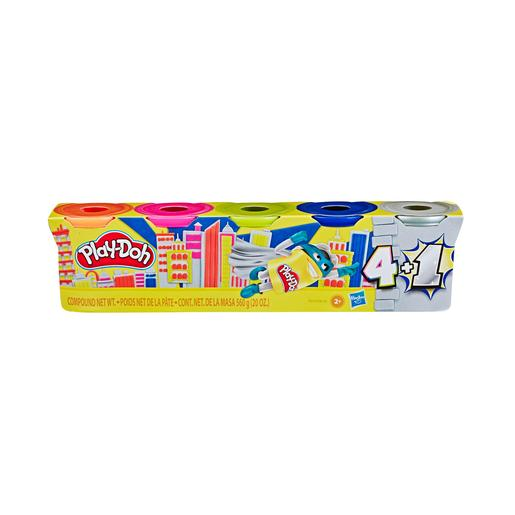 Play-Doh - Pack 5 Recipientes Prata