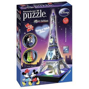 Ravensburger - Puzzle Torre Eiffel Disney Night Edition