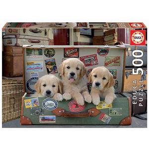 Educa Borras - Cachorros na Mala - 500 peças