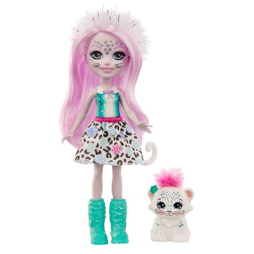 Enchantimals - Boneca Sybill Snow Leopard com Mascote