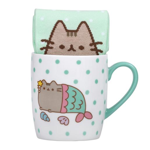 Pusheen - Set Caneca e Meias Mermaid Pusheen