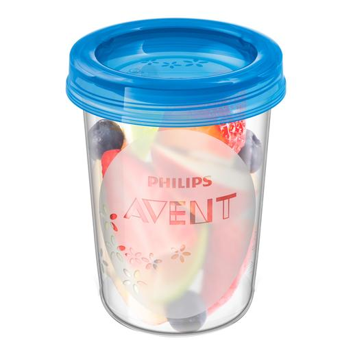 Philips Avent - 5 Recipientes com Tampa 240 ml