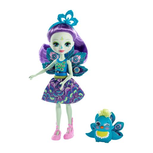 Enchantimals - Boneca com Mascote - Patter Peacock e Flap