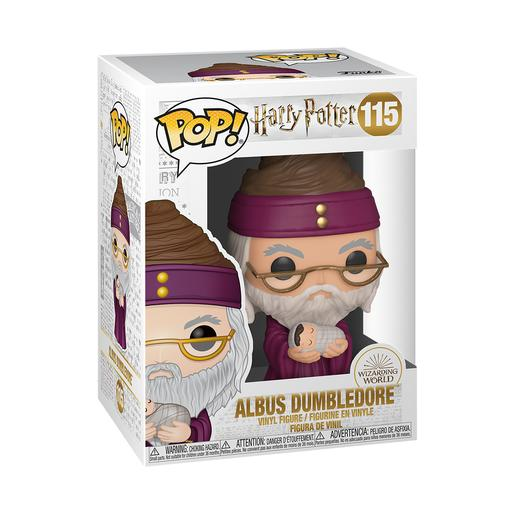 Harry Potter - Dumbledore com Harry Bebé - Figura Funko POP