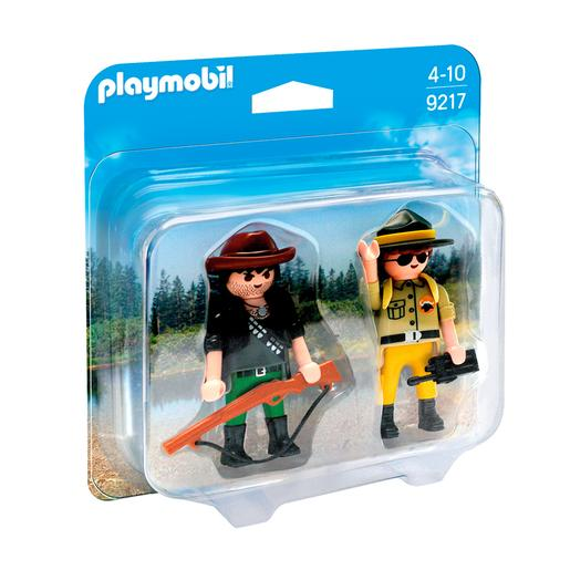 Playmobil - Duo Pack Guarda Florestal e Caçador Furtivo - 9217