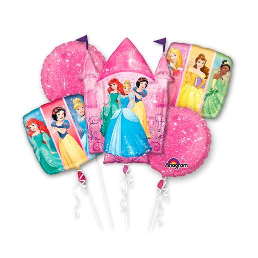 Princesas Disney - Pack 5 Balões Bouquet Princesas