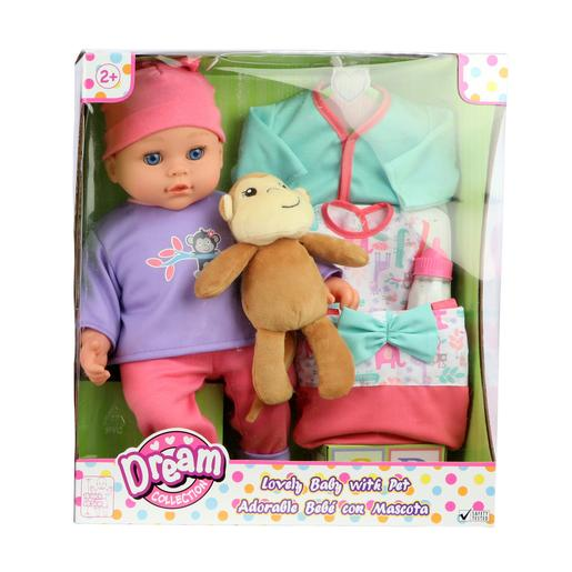 Bebé con Mascota Dream Collection (varios modelos)