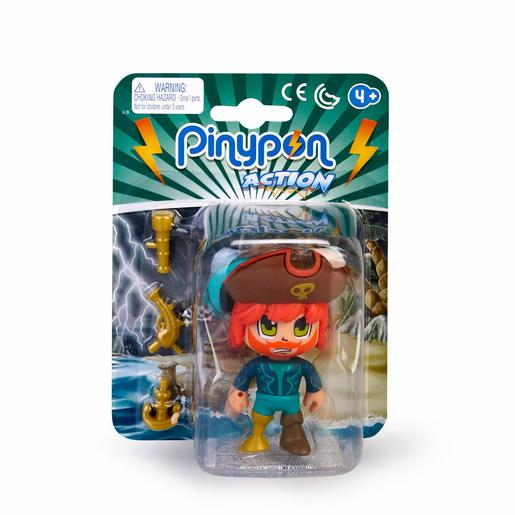 Pinypon - Pirata Ruivo - Figura Pinypon Action