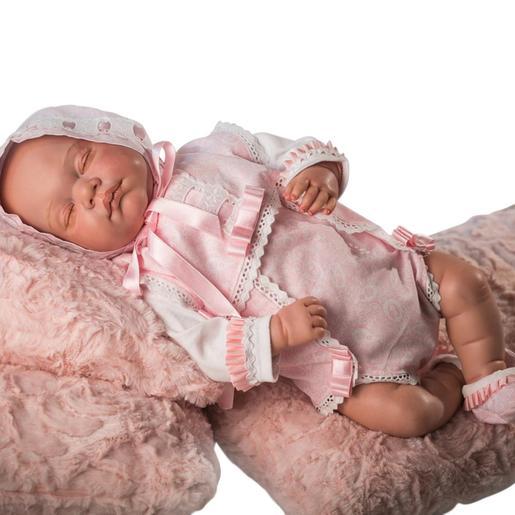 Bebé Reborn Roupinha Rosa com Lacinhos