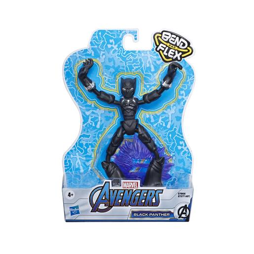 Os Vingadores - Figura Bend and Flex Black Panther 15 cm