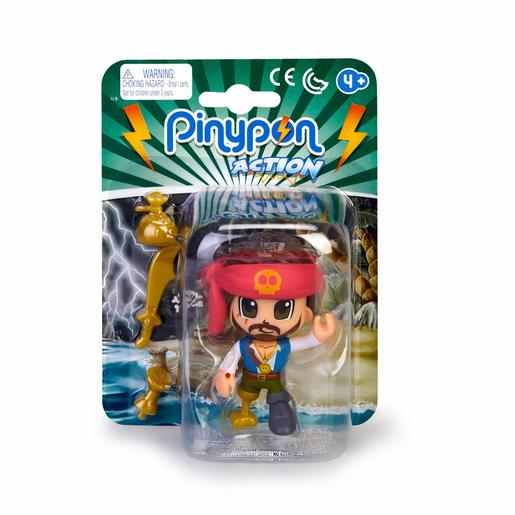 Pinypon - Pirata Cabelo Preto - Figura Pinypon Action