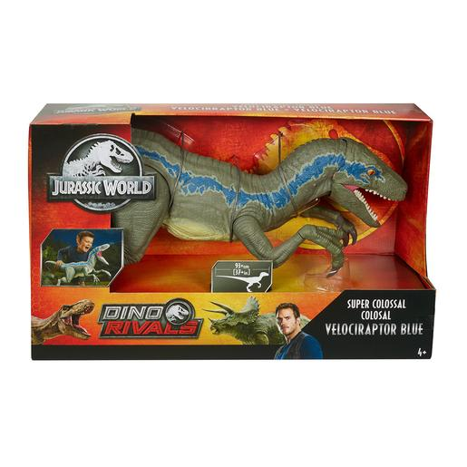 Jurassic World - Super Velocirraptor Blue Colosal