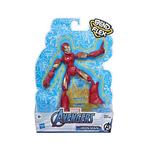 Os Vingadores - Figura Bend and Flex Iron Man 15 cm