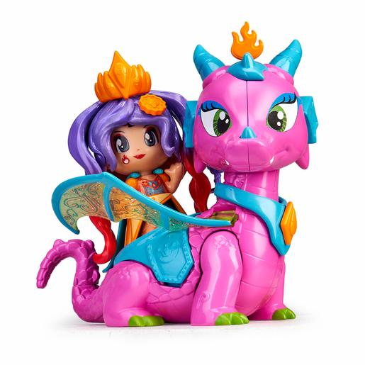 Pinypon - Reina e Dragão - Figuras Queens Dragon