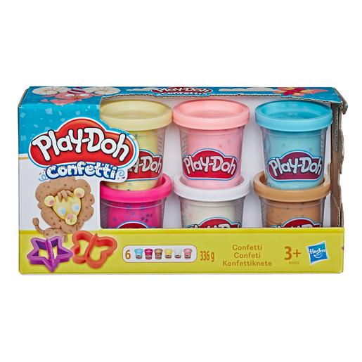 Play-Doh - Pack 6 Potes Confetti