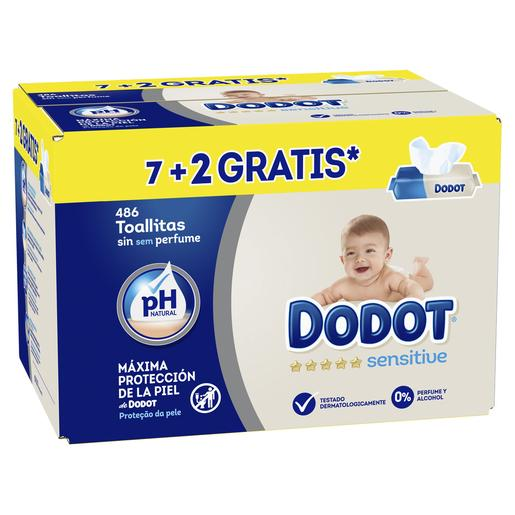 Dodot - Pack Toallitas Sensitive 486