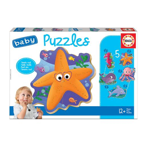 Educa Borrás - Animais do Mar - Baby Puzzle